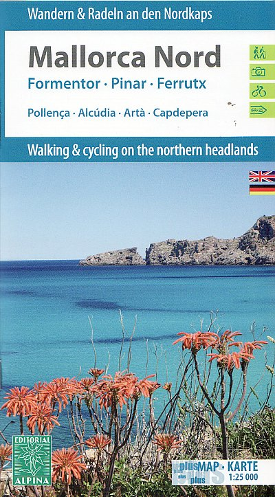 Mallorca North hiking & cycling map 1:25t ALPINA