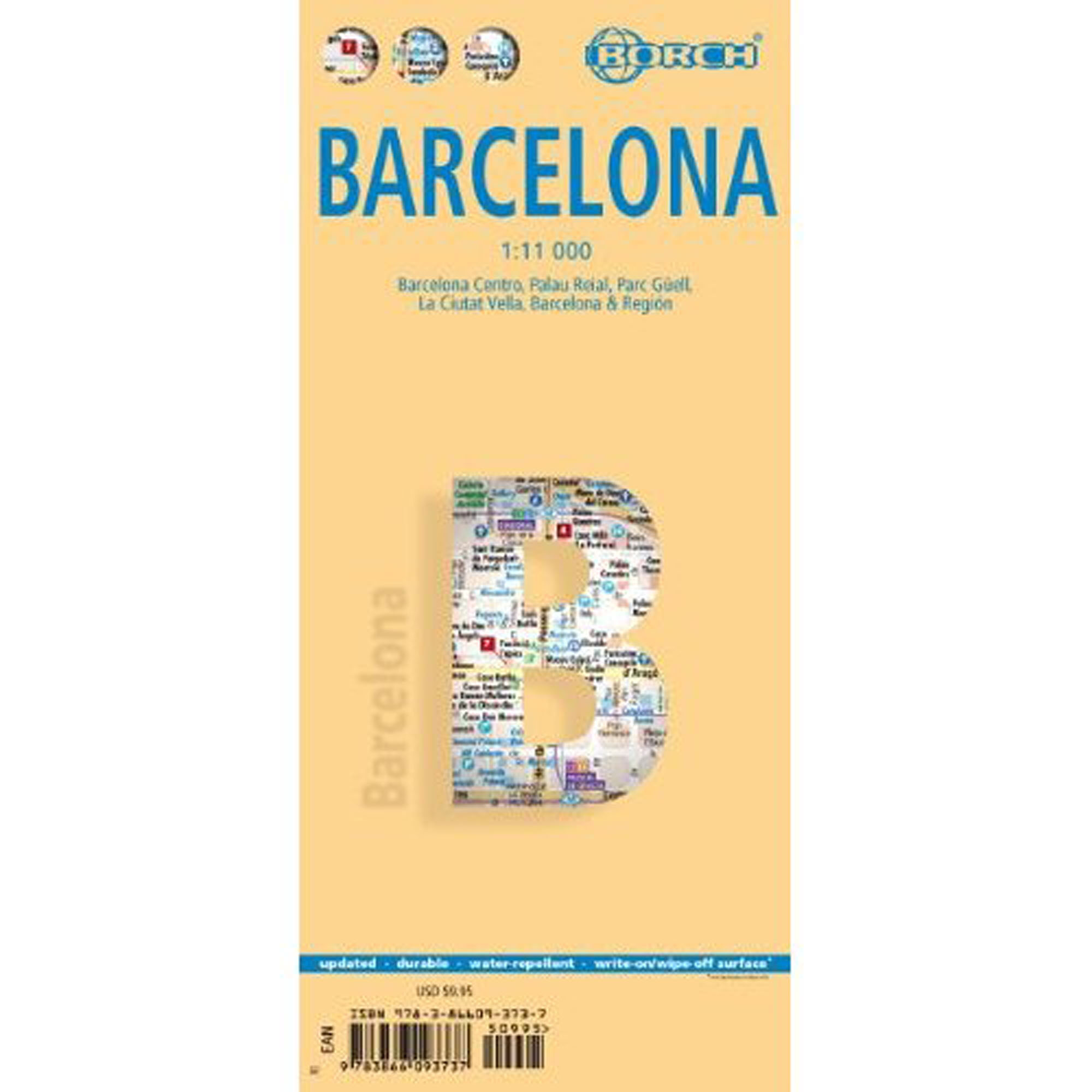 detail Barcelona 1:11t mapa Borch