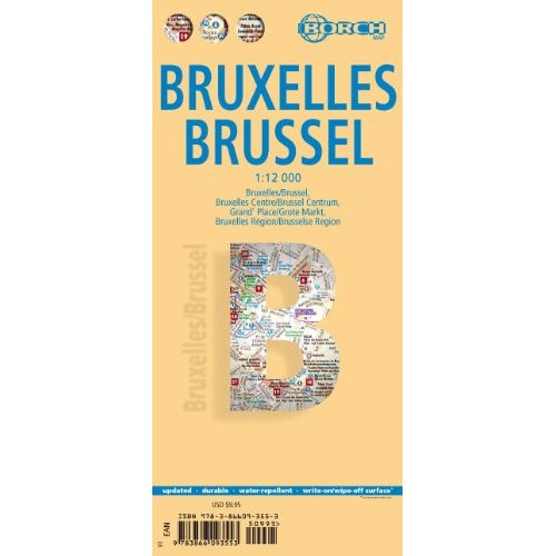detail Brusel (Brussels) 1:12t mapa Borch