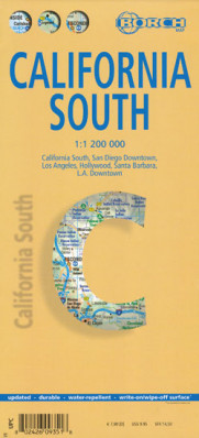 Kalifornie jih (California South) 1:1,2m mapa Borch