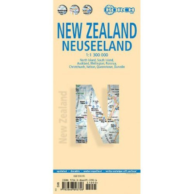 Nový Zéland (New Zealand) 1:1,3m mapa Borch