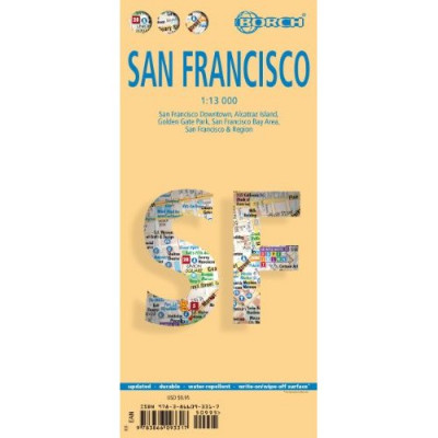 San Francisco 1:13t mapa Borch
