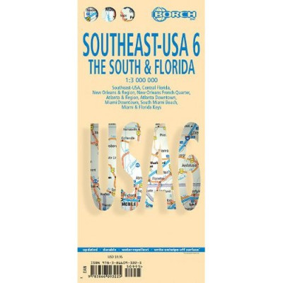 USA jih & Florida (USA The South &Florida) 1:3m mapa Borch