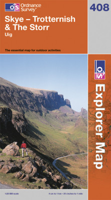 Skye / Trotternish / The Storr 1:25.000 turistická mapa OS #408