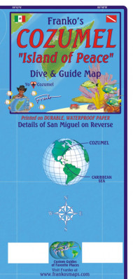Cozumel 1:95t guide & dive mapa + St. Miguel FRANKO´S