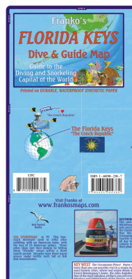Florida Keys 1:340t guide & dive mapa + Key West FRANKO´S