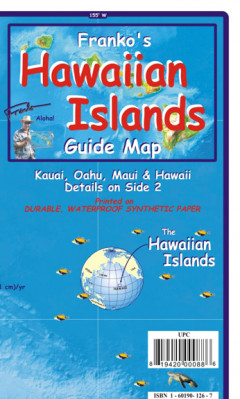 Hawaiian Islands 1:1,176m Guide mapa FRANKO´s