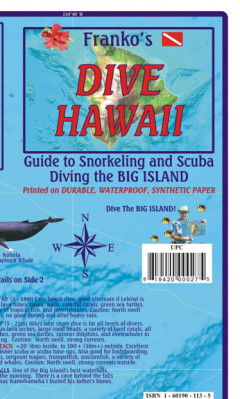 Hawaii Big Island 1:420t Dive mapa FRANKO´S