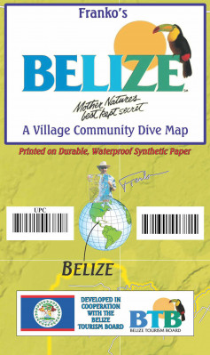 Belize 1:432t guide & dive mapa FRANKO´S