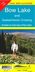 Bow Lake & Saskatchewan Crossing 1:70.000 mapa a průvodce Gem Trek