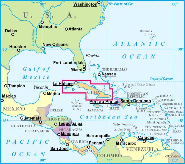 Kuba Cuba 1 1m Mapa Gizi International Travel Maps Cz