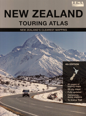 Nový Zéland (New Zealand) Touring Atlas 1:350t HEMA