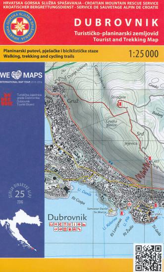 Dubrovnik 1 25 000 Turisticka Mapa Hgss International Travel Maps Cz