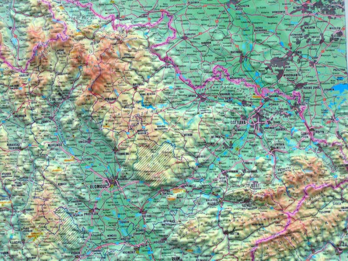 Ceska Republika 1 500t Reliefni Mapa Hp International Travel Maps Cz