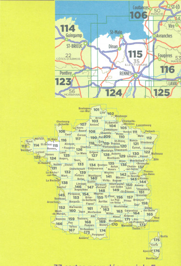 detail IGN 115 Rennes / St-Malo 1:100t mapa IGN