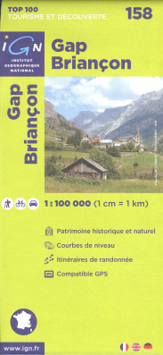 IGN 158 Gap / Briancon 1:100t mapa IGN