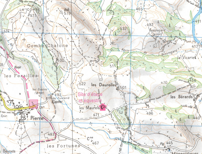 detail IGN 3342OT Manosque Forcalquier 1:25t mapa IGN