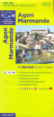 IGN 160 Agen Marmande 1:100t mapa IGN