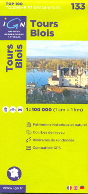 IGN 133 Tours Blois 1:100t mapa IGN