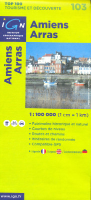 IGN 103 Amiens, Arras 1:100t mapa IGN