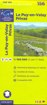 IGN 156 Le Puy-en-Velay 1:100t mapa IGN
