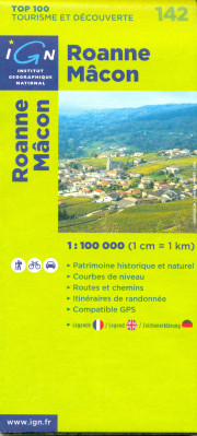 IGN 142 Roanne Macon 1:100t mapa IGN