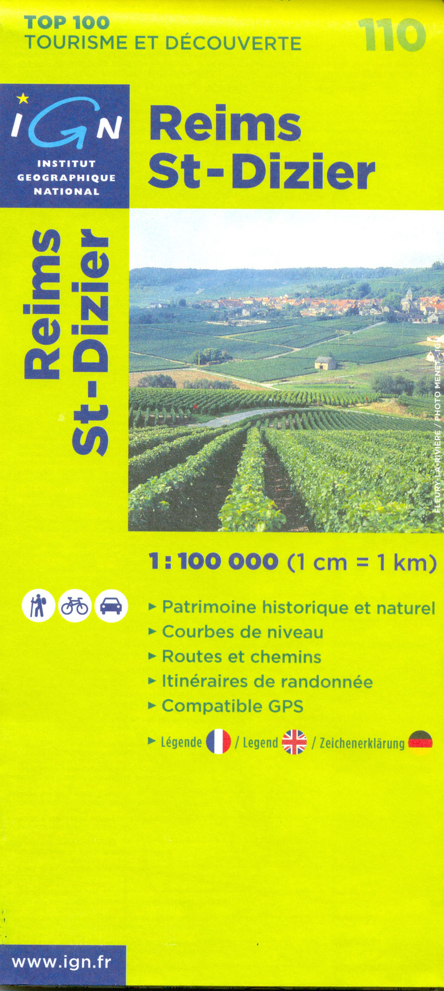 IGN 110 Reims, St-Dizier 1:100t mapa IGN