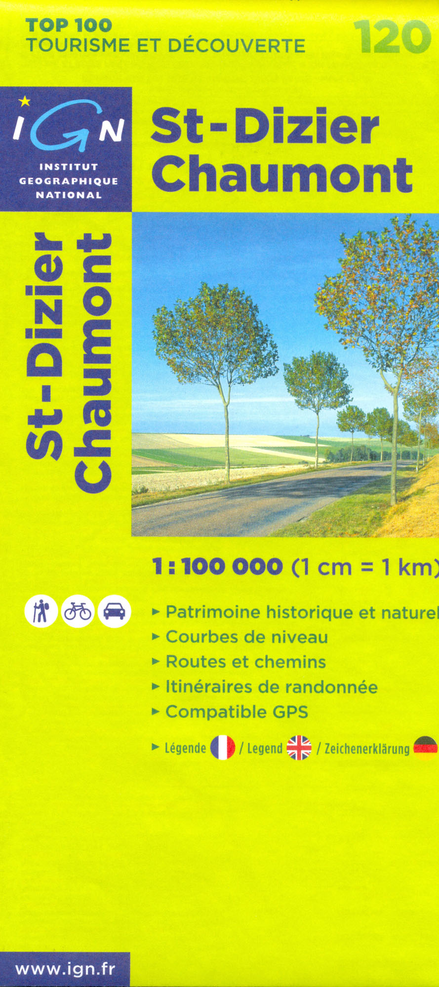 IGN 120 St-Dizier, Chaumont 1:100t mapa IGN