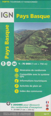 Pays Basque 1:75t mapa IGN