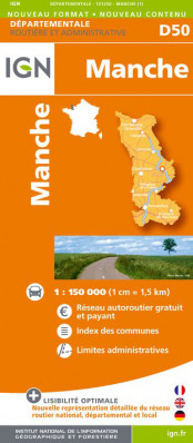Manche departement 1:150.000 mapa IGN