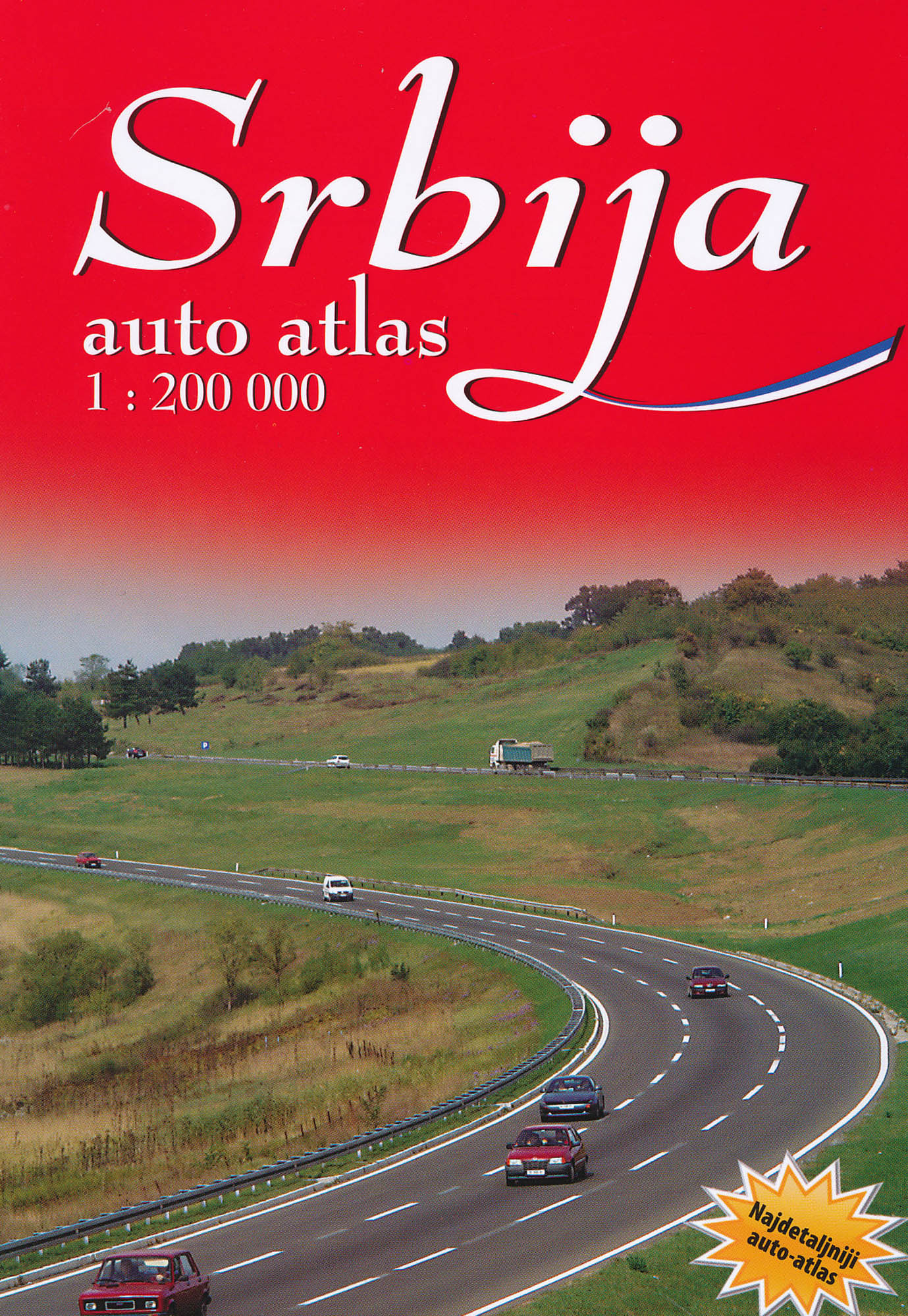 Srbsko autoatlas 1:200.000 IS