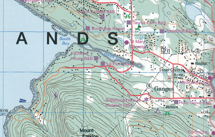 detail Gulf Islands 1:50t mapa ITM