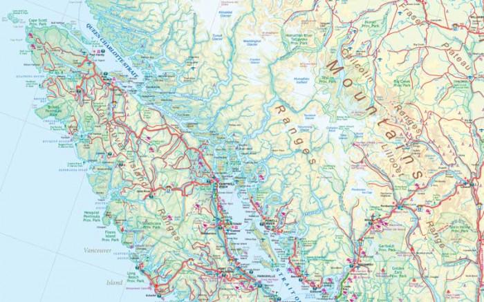 Britska Kolumbie British Columbia 1 1 25m Mapa Itm