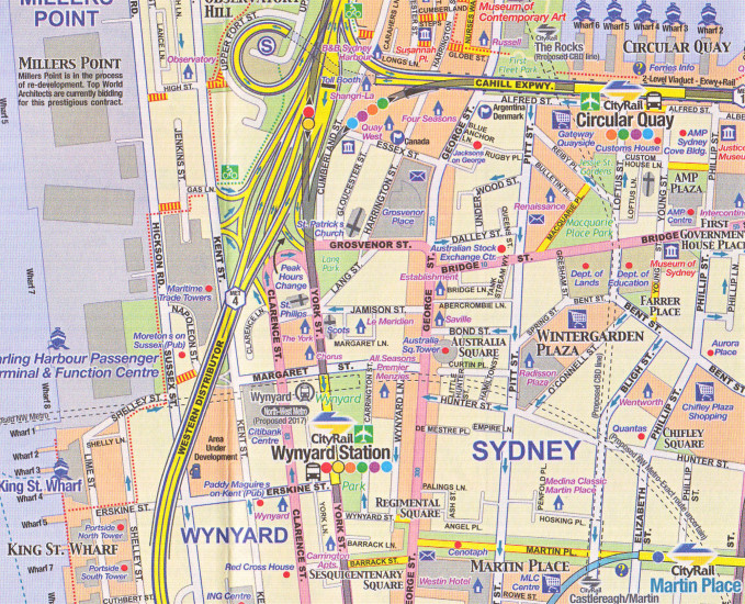 detail Brisbane & Queensland 1:10t/1:3,6m mapa ITM