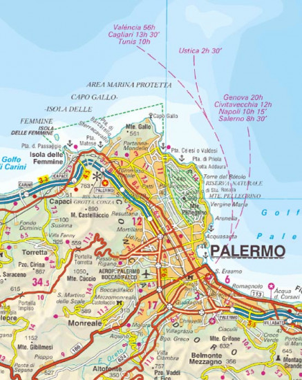 Sicilie Sicily 1 250t Mapa Itm International Travel Maps Cz