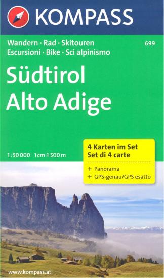 Jizni Tyrolsko Sudtirol Alto Adige Set 4 Map 699 Kompass