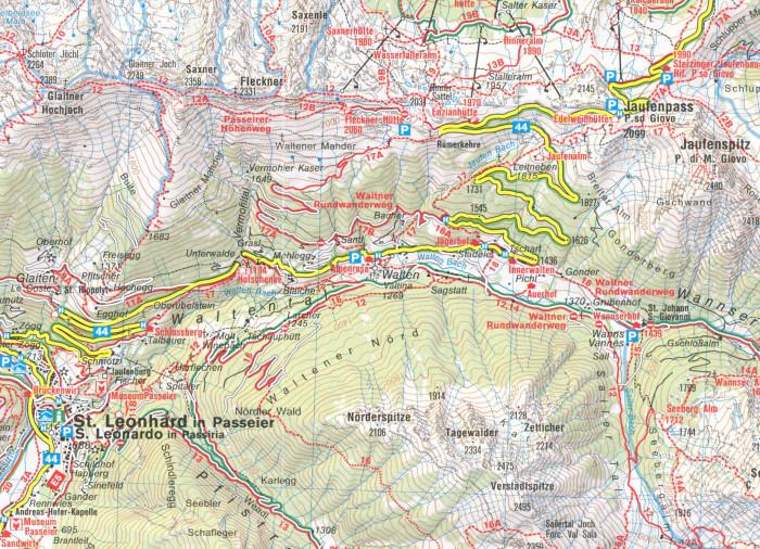 Mapa Turisticka Mapa Tyrolsko
