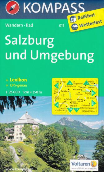 Salzburg A Okoli 1 25t Mapa Kompass 017 International Travel