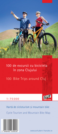 detail Cycle Tourism and Mountain Bike Map - 100 Bike Trips Around Cluj