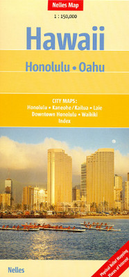 Havaj (Hawaii) Honolulu/Oahu 1:35t mapa Nelles