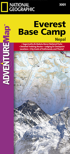 detail Everest Base Camp (Nepál) Adventure Map GPS komp. NGS