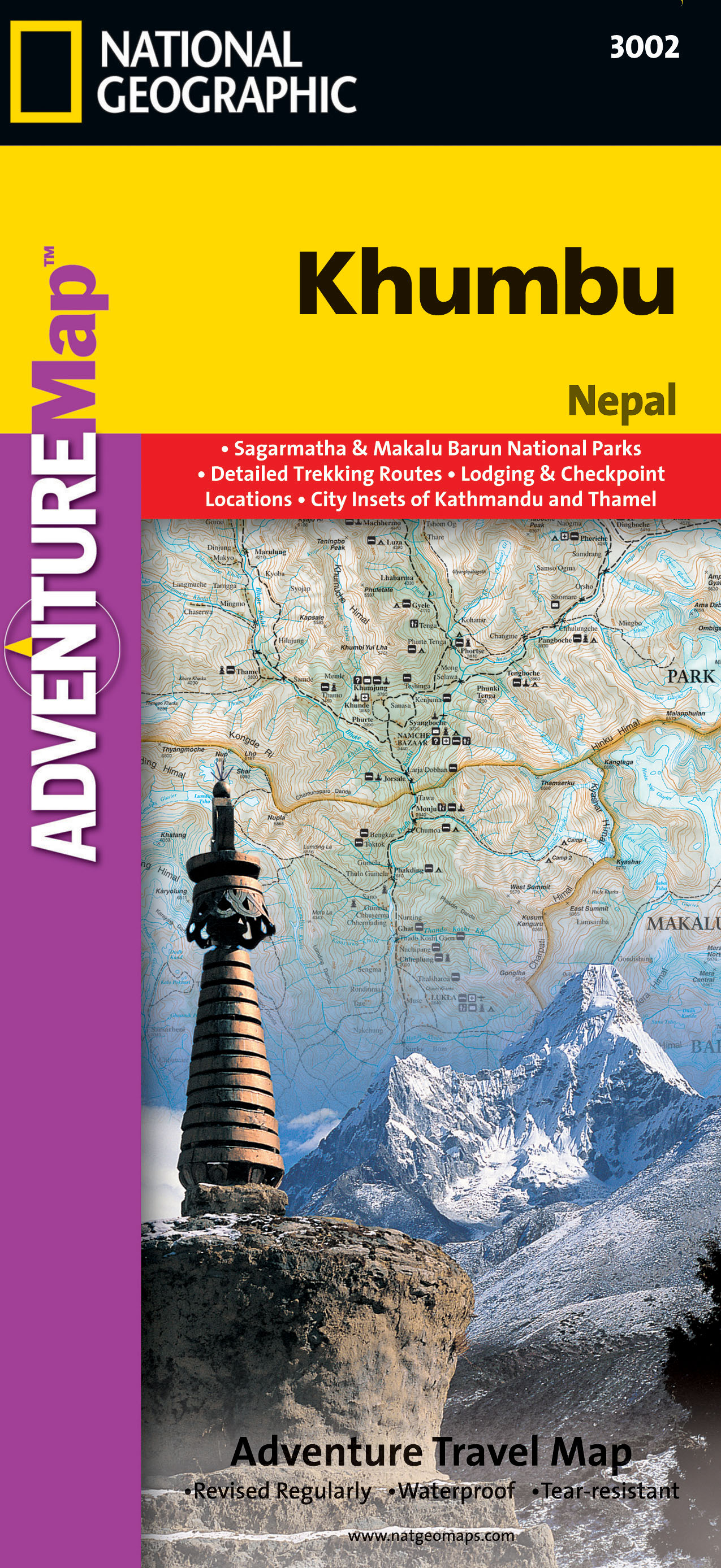 Khumbu (Nepál) Adventure Map GPS komp. NGS