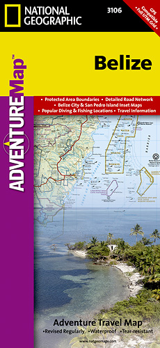 Belize Adventure Map GPS komp. NGS