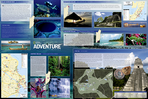 detail Belize Adventure Map GPS komp. NGS
