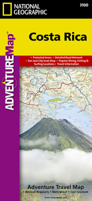 Kostarika Adventure Map GPS komp. NGS