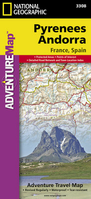 Pyreneje a Andora Adventure Map GPS komp. NGS
