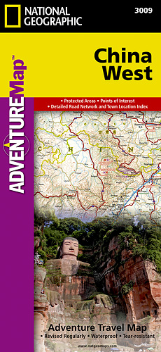 Čína Západ Adventure Map GPS komp. NGS
