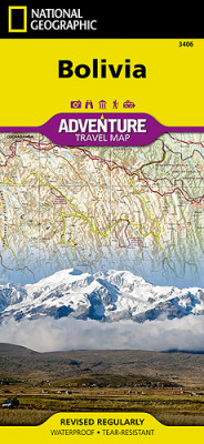 Bolívie Adventure Map GPS komp. NGS