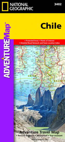 detail Chile Adventure Map GPS komp. NGS