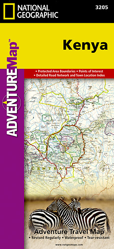Keňa Adventure Map GPS komp. NGS